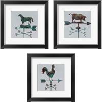 Framed Rural Relic Horse 3 Piece Framed Art Print Set