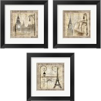 Framed City 3 Piece Framed Art Print Set