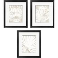 Framed Linen Tropical Silhouette 3 Piece Framed Art Print Set