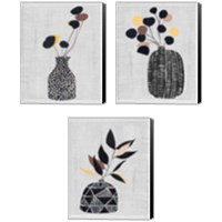 Framed Decorated Vase with Plant 3 Piece Canvas Print Set