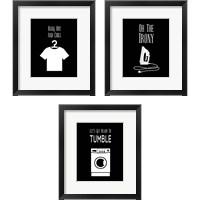 Framed Laundry - Black 3 Piece Framed Art Print Set