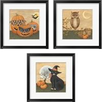 Framed Funny Pumpkins 3 Piece Framed Art Print Set