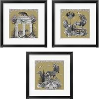 "Framed ""Livoris Feritas Leopard Design, Square 3 Piece Set"""