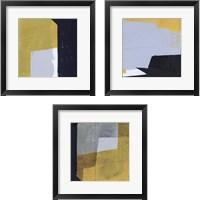 Framed Black & Yellow 3 Piece Framed Art Print Set