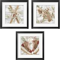 Framed Pinecone Lodge 3 Piece Framed Art Print Set