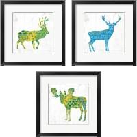 Framed Forest Animal 3 Piece Framed Art Print Set