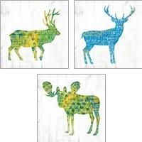 Framed Forest Animal 3 Piece Art Print Set