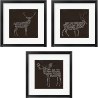 Framed Animal Lodge 3 Piece Framed Art Print Set