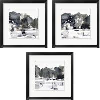 Framed December Landscape 3 Piece Framed Art Print Set