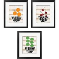 Framed Bowl of Fruit 3 Piece Framed Art Print Set