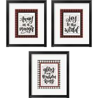 Framed Christmas Carol 3 Piece Framed Art Print Set
