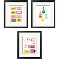 Framed Lets Listen to Music 3 Piece Framed Art Print Set