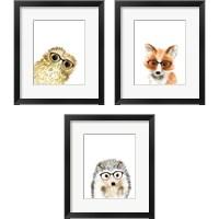 Framed Animal in Glasses 3 Piece Framed Art Print Set