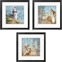 Framed Lighthouse 3 Piece Framed Art Print Set
