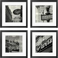 Framed French Signs 4 Piece Framed Art Print Set