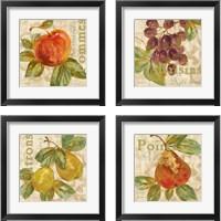 Framed Rustic Fruit 4 Piece Framed Art Print Set