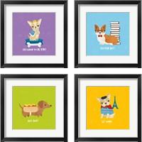 Framed Good Dogs 4 Piece Framed Art Print Set