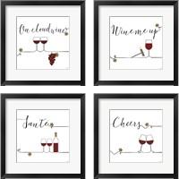 Framed Underlined Wine 4 Piece Framed Art Print Set