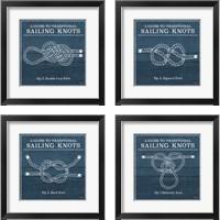 Framed Vintage Sailing Knots 4 Piece Framed Art Print Set