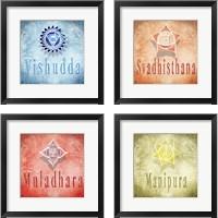 Framed Chakras Yoga V3 4 Piece Framed Art Print Set