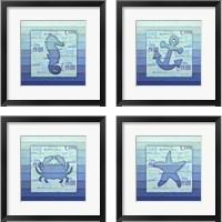 Framed Gypsy Sea Blue 4 Piece Framed Art Print Set