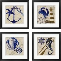 Framed Nautical 4 Piece Framed Art Print Set