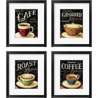 Framed Today's Coffee 4 Piece Framed Art Print Set