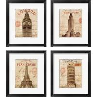 Framed Letter from City 4 Piece Framed Art Print Set