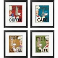 Framed Worlds Best Chef 4 Piece Framed Art Print Set