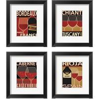 Framed Wine Selection 4 Piece Framed Art Print Set