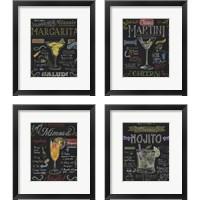 Framed Cocktail Chalkboard 4 Piece Framed Art Print Set