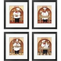 Framed Chef 4 Piece Framed Art Print Set