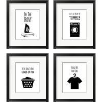 Framed Laundry - White 4 Piece Framed Art Print Set