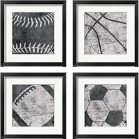 Framed Sports 4 Piece Framed Art Print Set