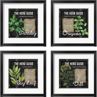 Framed Herb Guide 4 Piece Framed Art Print Set