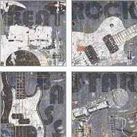 Framed Rock Concert 4 Piece Art Print Set