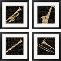 Framed Jazz Improv 4 Piece Framed Art Print Set