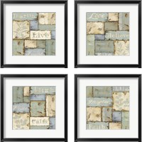 Framed Inspirational Patchwork 4 Piece Framed Art Print Set