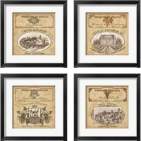 Framed Vintage Labels 4 Piece Framed Art Print Set