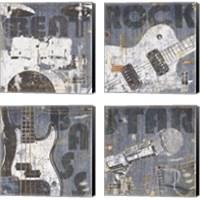 Framed Rock Concert 4 Piece Canvas Print Set