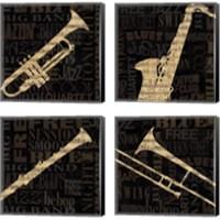 Framed Jazz Improv 4 Piece Canvas Print Set