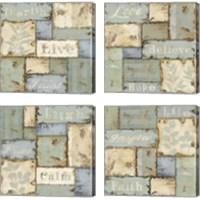 Framed Inspirational Patchwork 4 Piece Canvas Print Set