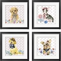 Framed Easter Pups 4 Piece Framed Art Print Set