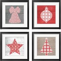 Framed Nordic Holiday 4 Piece Framed Art Print Set