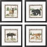 Framed Family Cabin 4 Piece Framed Art Print Set