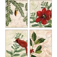 Framed Vintage Noel 4 Piece Art Print Set