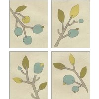 Framed Simple Stems 4 Piece Art Print Set