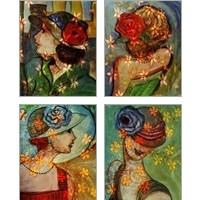 Framed Bella 4 Piece Art Print Set