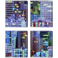 Framed Metropolitain 4 Piece Canvas Print Set