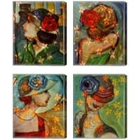 Framed Bella 4 Piece Canvas Print Set